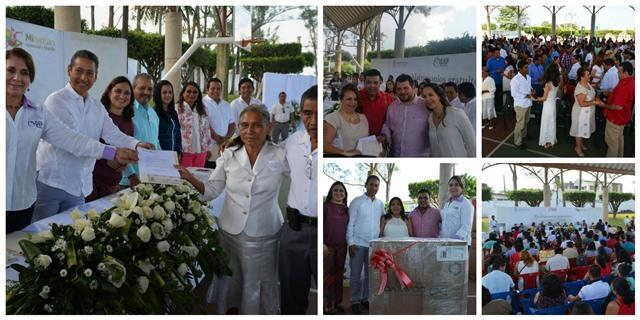 "El alcalde Héctor Cheng, encabeza ceremonia de ""Matrimonios Colectivos"" en Minatitlán"