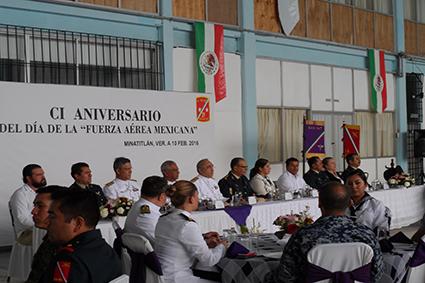 Festejan el 101 aniversario de la Fuerza Aérea Mexicana