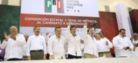 Arropa Javier Duarte a Yunes Landa; en su confirmación como candidato Gobernador