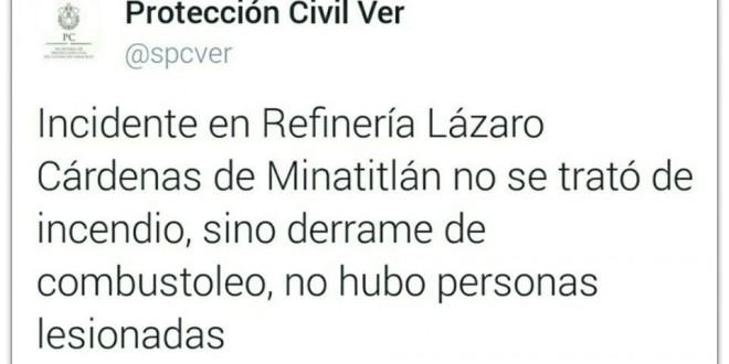 Protección Civil y PEMEX desmiente a Duarte