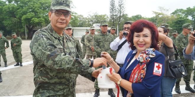 Ejército Mexicano entrega donativos a la Cruz Roja