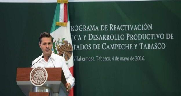 EPN anuncia creación de zona económica especial para Campeche y Tabasco