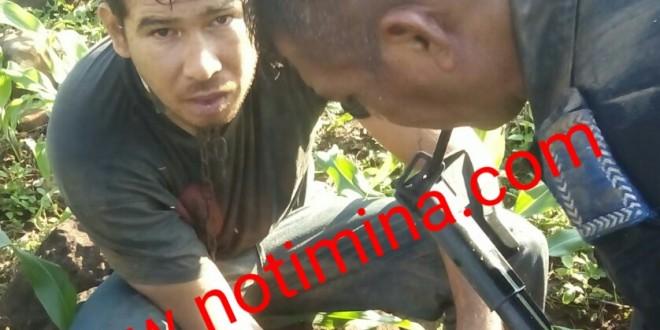 Encuentran una persona enterrada viva; en el municipio de Soteapan