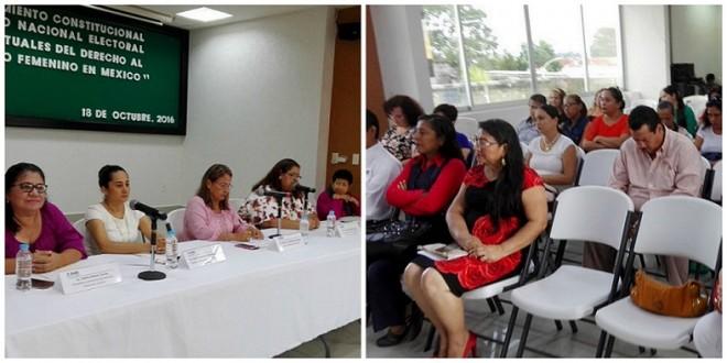 INE realiza Foro sobre el 63 Aniversario del Sufragio Femenino