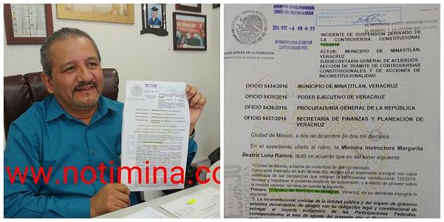 Suprema Corte de Justicia de la Nación, ordena no detener  más participaciones federales a Minatitlán