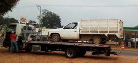 Recupera Policía Estatal camioneta abandonada en zona rural