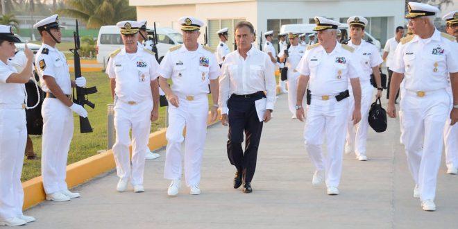 El Gobernador Yunes recibió a los Secretarios de Marina y de Educación Pública