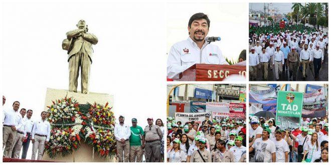 Celebran el 79 Aniversario de la Expropiación Petrolera en Minatitlán.