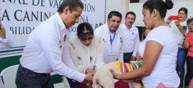 El alcalde Héctor D. Chang; puso en marcha la Semana Nacional de Vacunación Antirrábica Canina y Felina