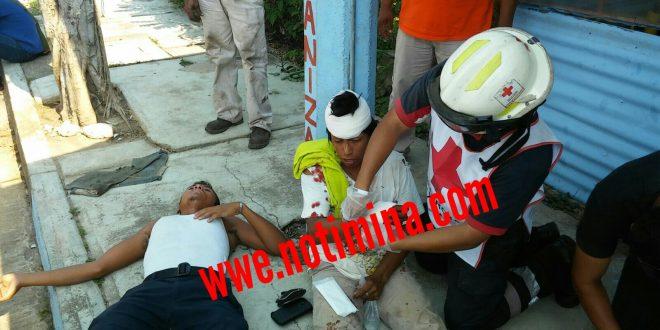 Tres personas recibieron tremenda paliza en la colonia Hidalgo de Minatitlán