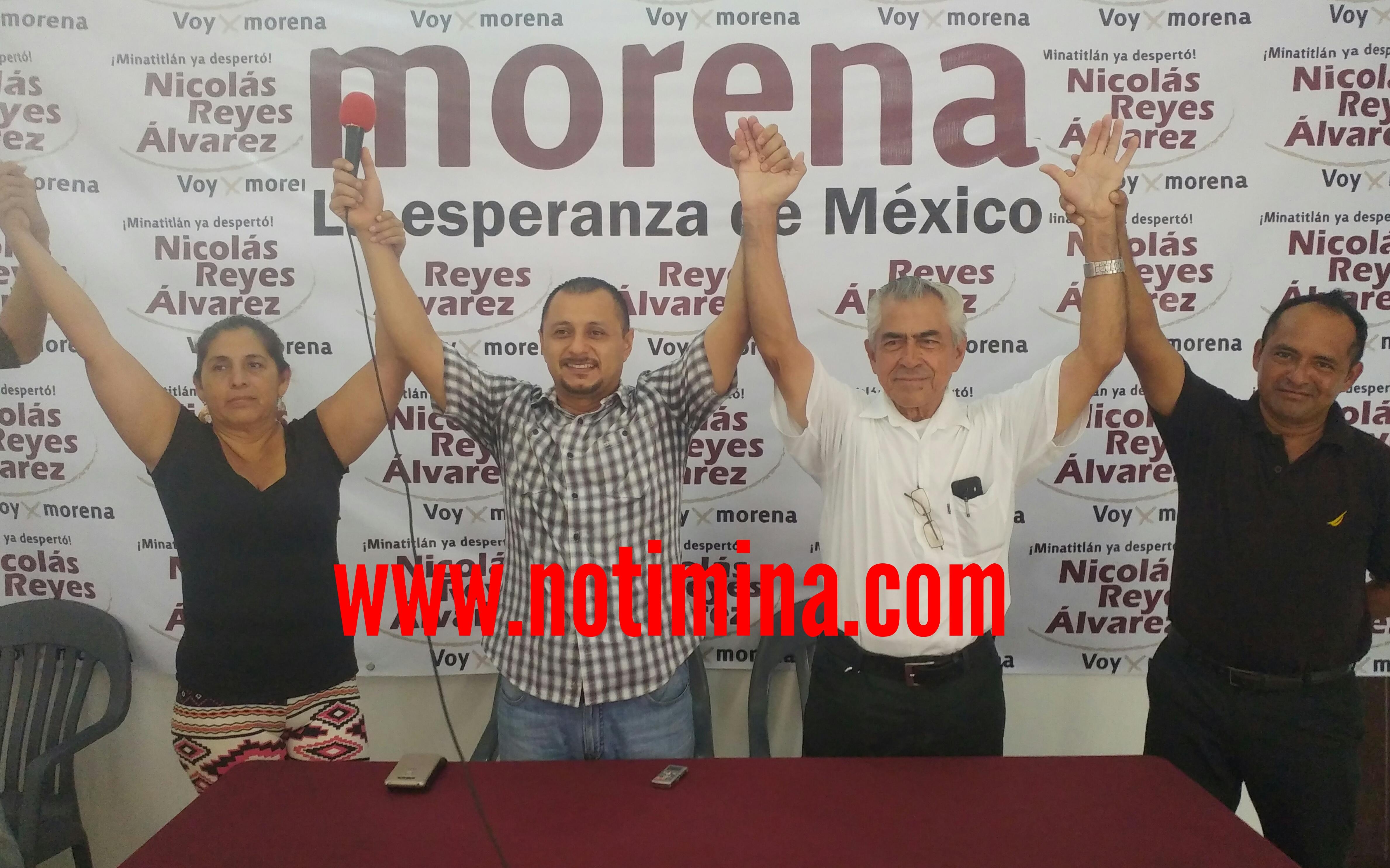Movimiento de Resistencia Civil de Minatitlán; se unen a MORENA para ganar la alcaldía