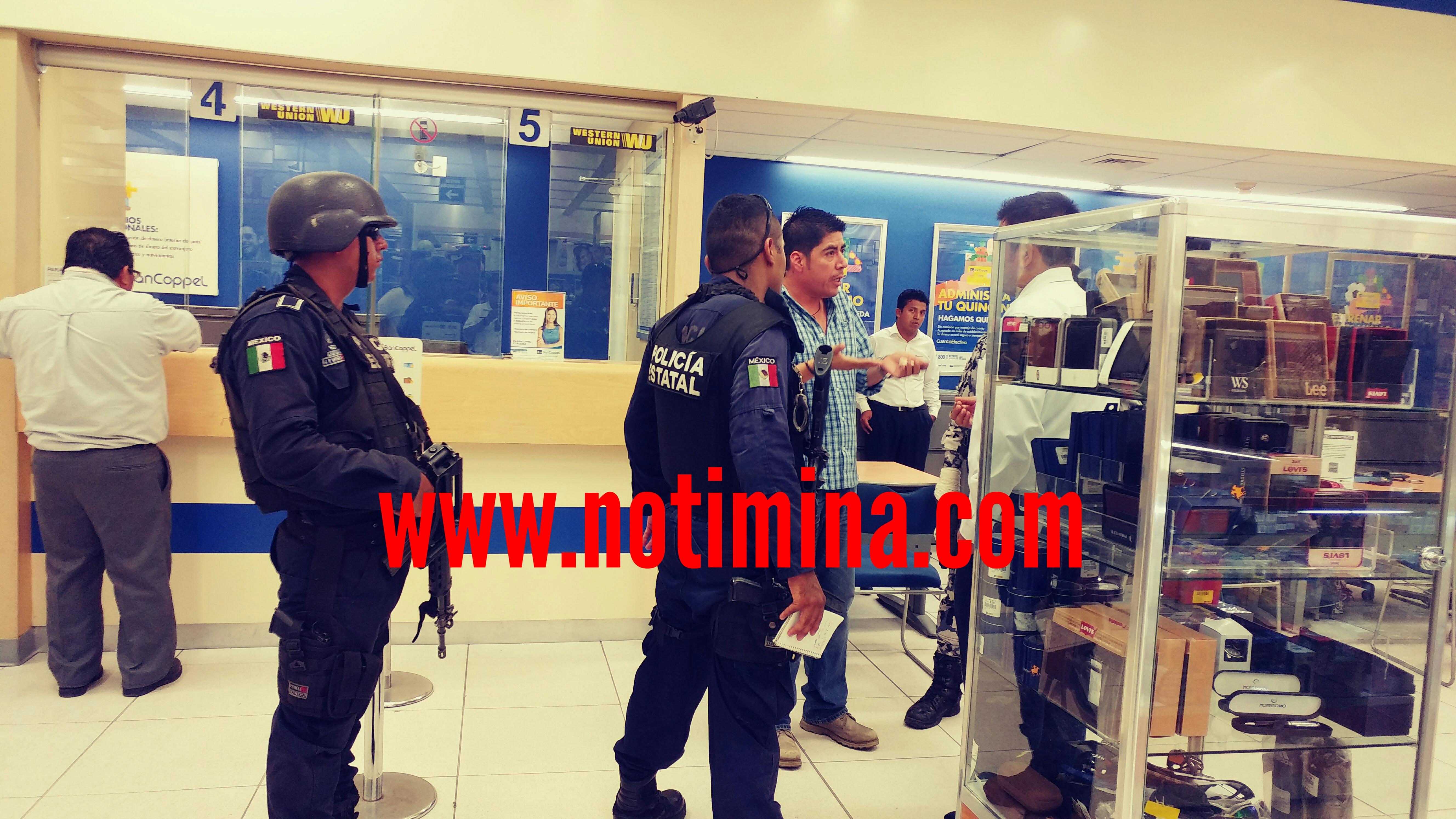 Falsa alarma de asalto a tiendas Copel del centro de Minatitlán