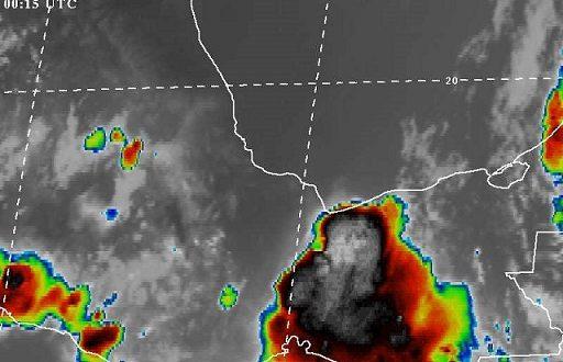 Aviso de potencial de tormentas