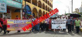 Inconformes protestan en oficinas de la CAEV – Acayucan