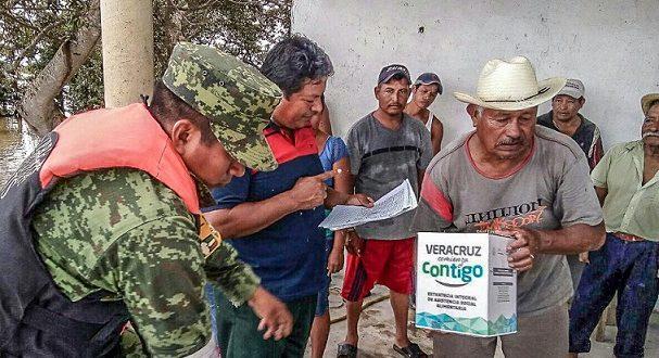 CONTINÚA LA ENTREGA DE APOYOS A FAMILIAS DEL ÁREA RURAL QUE RESULTARON AFECTADAS POR LAS LLUVIAS