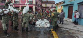 Sigue el Plan DNIIIE por parte de la 29 Zona Militar para zonas afectadas por lluvias