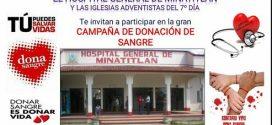 Hospital Civil e Iglesias Adventistas, promueven la donación de sangre