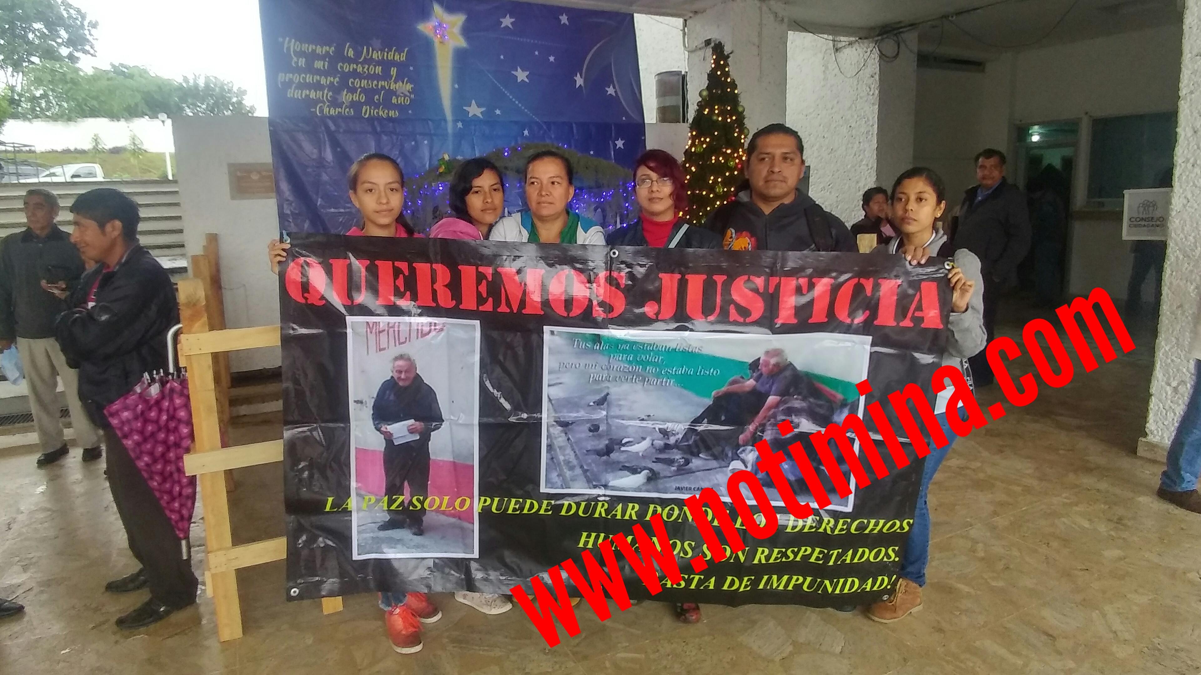 """Piden justicia y que se atrape al asesino del indigente """"el güero"""""""